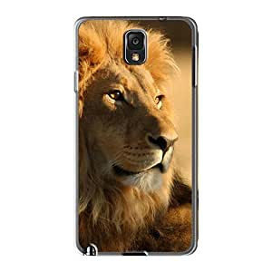 Protector Hard Cell-phone Case For Samsung Galaxy Note 3 (uYp1820nAIi) Allow Personal Design Attractive Beautiful African Lion Pictures