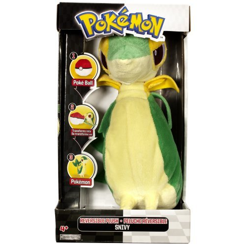 Amazon.com: Pokemon Tsutaja Snivy stuffed toy 20cm monster ball reversible cute gift Pokemon Black Version and White parallel import goods: Toys & Games