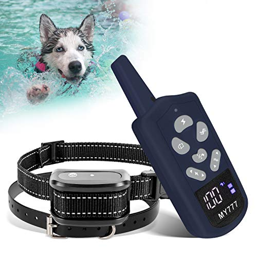 zenvey Dog Training Collar with Remote-Shock Collar for Dogs Large,Medium,Small-Waterproof E-Collar w/ 3 Correction Modes, Beep, Vibration,Shock|Pet Tech Dog Collar Offer 1~100 Shock Levels,1600ft