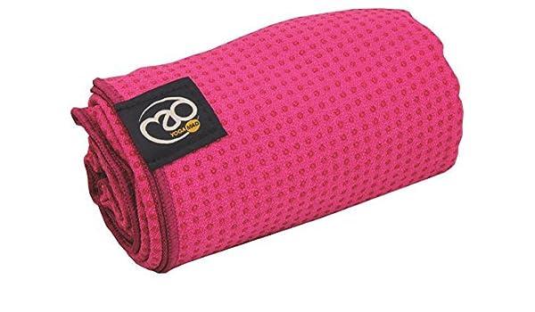 Amazon.com : Yoga-Mad Womens Grip Dot Towel - Bright Pink ...