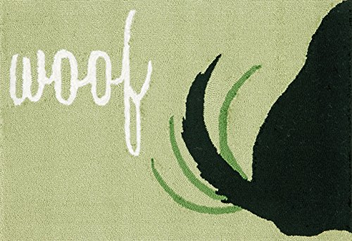 Whimsy Mat - Liora Manne FTP34142906 Whimsy Woof Dog Wagging Tail Indoor/Outdoor Floor Welcome Mat Runner Rug 2'6