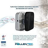 PollenTec – Hypoallergenic Box Fan Filter – Filters 98% of Airborne Pollen, Dust, Mold Spores, Pet Dander - WASHABLE - Allergy Research Certified - MADE IN USA - 20.5 x 20.5