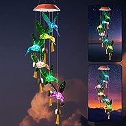 Zhengshizuo - Guirnalda de luces solares con forma de colibrí para regalar a mamá en el jardín, regalo de cump