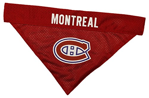 NHL Montreal Canadiens Bandana for Dogs & Cats, Large/X-Large. - Cute & Stylish Bandana! The Perfect Hockey Fan Scarf Bandana, Great for Birthdays or Any Party! ()