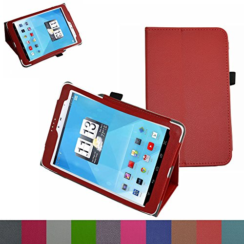 """Mama Mouth Folio 2-folding Slim Fit Stand Case Cover For 7.85"""" Trio AXS 4G 3G Android Tablet Red"""