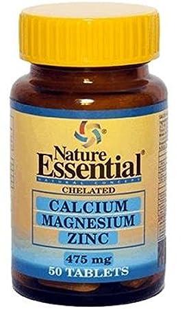 Calcio + Magnesio + Zinc 50 comprimidos de 475mg de Nature Essential: Amazon.es: Salud y cuidado personal