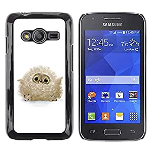 Caucho caso de Shell duro de la cubierta de accesorios de protección BY RAYDREAMMM - Samsung Galaxy Ace 4 G313 SM-G313F - Cute Baby Owl