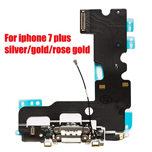 Afeax OEM USB Charging and Headphone Jack Port Dock Connector + Mic Flex Cable + Cellular Antenna Replacement for iPhone 7 Plus 5.5