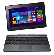 ASUS Transformer Book T100TAF-B11-GR 10.1-Inch Detachable 2-in-1 HD Touchscreen Laptop (Intel Atom 1GB RAM 32GB eMMC Windows 8.1 WiFi Bluetooth Webcam) Gray (Certified Refurbished))