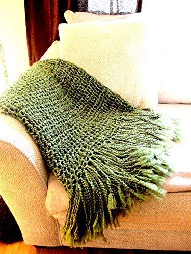 Amazon Com Throw Blanket Olive Green Army Green Rustic Home