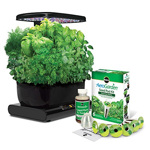 AeroGarden Harvest 2015 with Gourmet Herb Seed Pod Kit, Black by AeroGrow