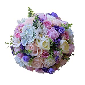Wedding Bouquet Silk Roses Bridesmaid Bouquet Bridal Bouquet Artificial Flowers for Wedding Party 3