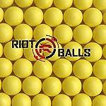 Yellow 100 X 0.68 Cal. PVC/Nylon Riot Balls Self Defense Less Lethal Practice Paintball …