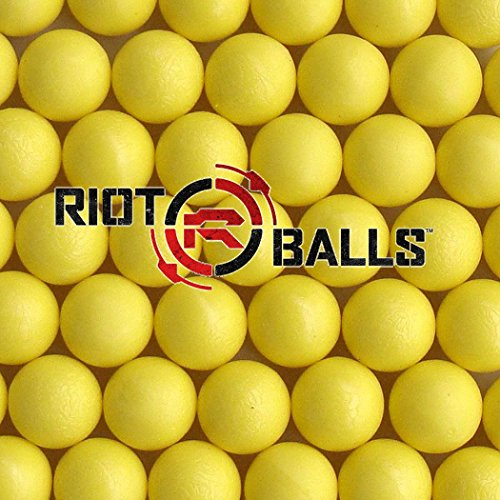Re-Usable Training Foam Rubber Balls 68cal Tac Balls Paintballs - 500 Rounds Yellow ()