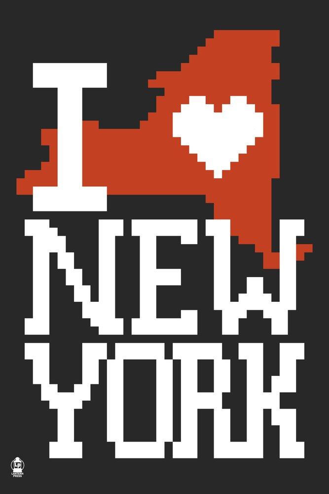 新しいYork State 8ビット(ブラック) 36 x 54 Giclee Print LANT-54888-36x54 B017E9VOVS  36 x 54 Giclee Print