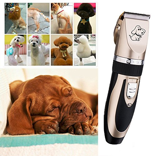 Ltuotu Rechargeable Cordless Pet Grooming Clippers-- Professional Pet Hair Clippers with Comb Guides for Small Medium & Large Dogs Cats and Other House Animals,Pet Grooming Kit by Ltuotu (Image #3)