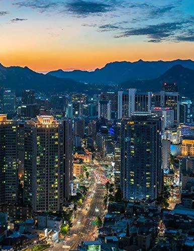 Notebook: Myeongdong Seoul South Korea tower Korean Asia Asian city cities lights big southern