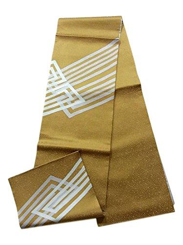 ただやる異形することになっているリサイクル 袋帯 抽象模様 霰地紋 正絹 お太鼓柄