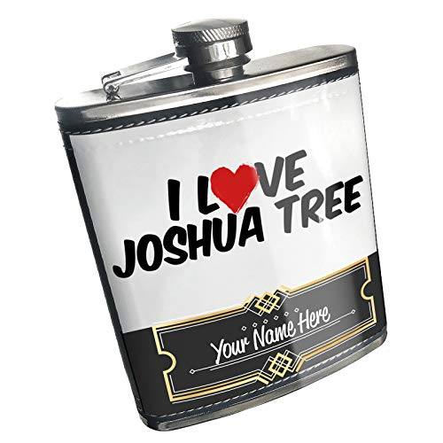 Neonblond Flask I Love Joshua Tree Custom Name Stainless Steel