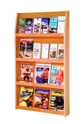 Wooden Mallet 24-Pocket Slope Literature Display, Light Oak by Wooden Mallet