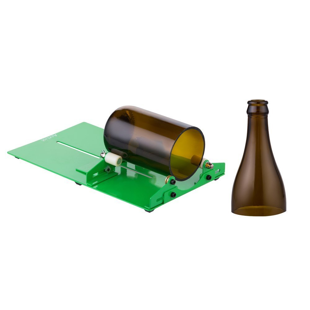 AceList Long Glass Bottle Cutter Scoring Machine Cutting Tool Wine Bottle Cutter for DIY Reuse Recycle Bear Wine Bottle Jars Creating Stained Glass, Tumblers, Bottle Planters, Bottle Lamps