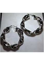 Beautiful Twisted Fashion Jewelry Hollow Hoop Earrings