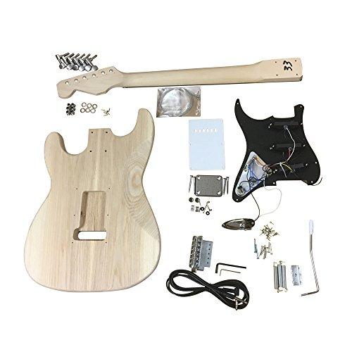 GD4401 Coban Guitars Diestros Fresno Guitarra Eléctrica Kit construcción para estudiante & Luthier Proyectos - Negro R/H, Full size: Amazon.es: Instrumentos ...