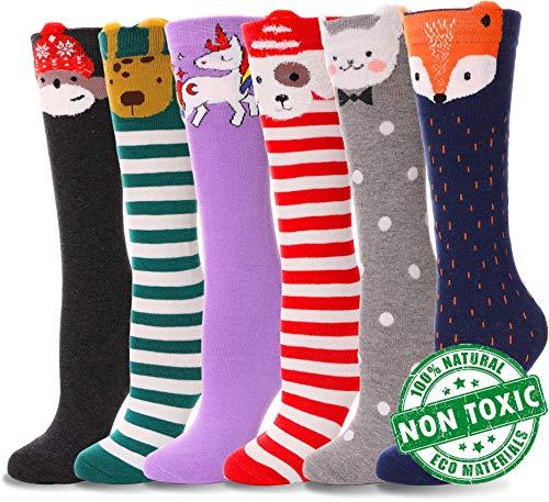 s Cute Animal Pattern Novelty Fashion Soft Cotton Socks 6 Pair (Animal 2, 6 Pairs) ()