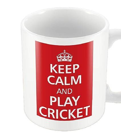Keep Calm and Play Cricket Mug
