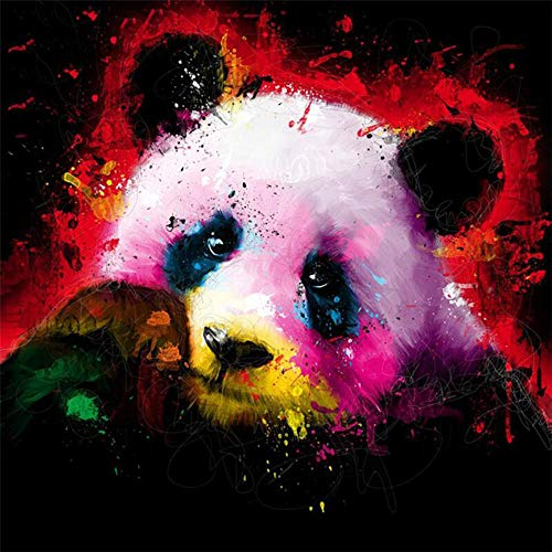 - DIY Oil Paint by Number Kit for Adults Beginner 16x20 Inch - Colorful Panda,Drawing with Brushes Christmas Decor Decorations Gifts (Framed)