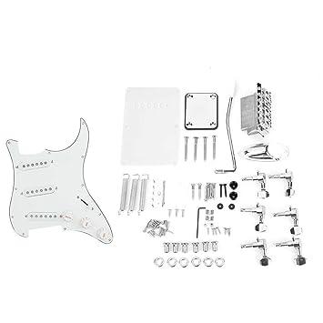Dilwe Guitarra Eléctrica de Bricolaje, Kits de Guitarra Sistema de Puente de Cubierta Trasera Pickguard