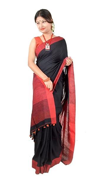 e08c924ddc Image Unavailable. Image not available for. Colour: Nisuj Fashion Women's  Handloom Khadi Cotton Saree ...
