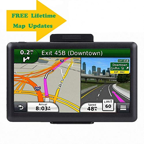 7.1 Inch GPS Navigator, 2019 Updated Lifetime Navigation Stereo System Touch Screen with Large 8GB Memory Multi Language Maps Spoken for Car Vehicle Truck Taxi ... (Best Car For Taxi 2019)