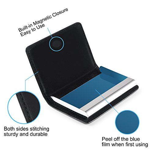 Business card holder wisdompro pu wallet leather metal business card holder wisdompro pu wallet leather metal professional credit name card case colourmoves