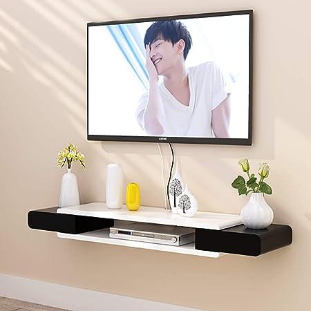 Flotante Consola para TV Estante,2 Nivel Moderno Pared Consola para TV Colgado De Madera Creativa TV Mueble para Set-Top Box Reproductor De DVD I 130x24x7cm(51x9x3inch): Amazon.es: Hogar