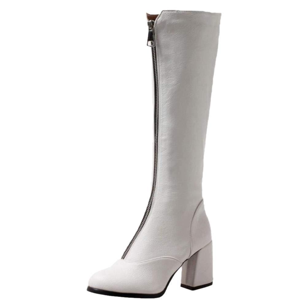 ZHRUI Damenmode High Heel Lange Stiefel