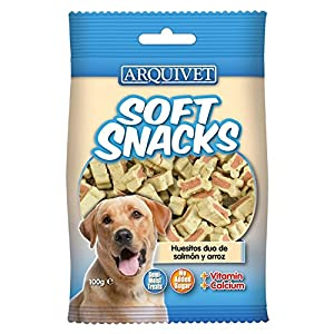 Arquivet Soft Snacks para Perro Huesitos Duo de salmón y arroz 100 g