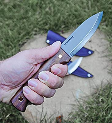 Condor CTK232-4.3HC Walnut Handle Bushlore Knife, Plain