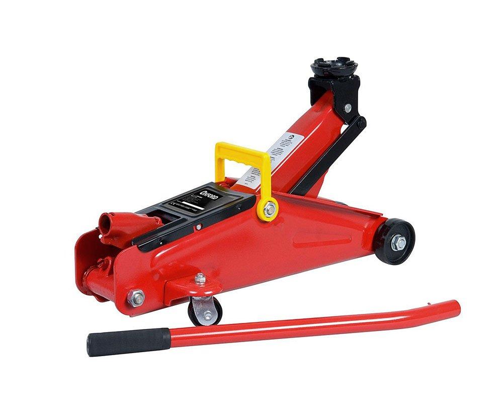 Vetrineinrete® Cric per auto 2 T sollevatore idraulico a carrello con manico removibile massima altezza di alzata 330 m per la sostituzione di pneumatici max 2 ton P41