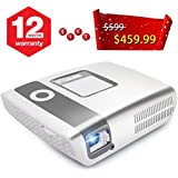 Flysight HD Video Projector, LED 2000 Lumens Portable Cinema Multimedia Gaming Projector with HDMI Port Ideal for Home Theatre Entertainment Parties