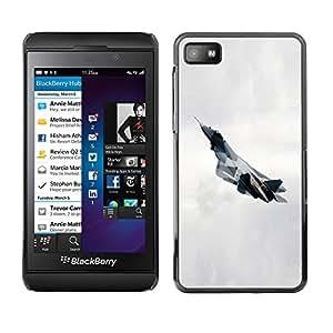TopCaseStore / la caja del caucho duro de la cubierta de protección de la piel - T fighter - Blackberry Z10