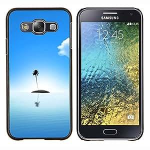 """Be-Star Único Patrón Plástico Duro Fundas Cover Cubre Hard Case Cover Para Samsung Galaxy E5 / SM-E500 ( Lindo Lonely Island Océano"""" )"""