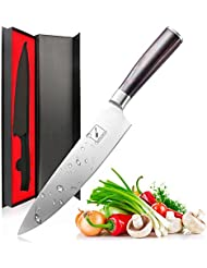 Imarku Pro Kitchen 8 inch Chef's Knife High Carbon Stainless Steel Sharp Knives Ergonomic Equipment