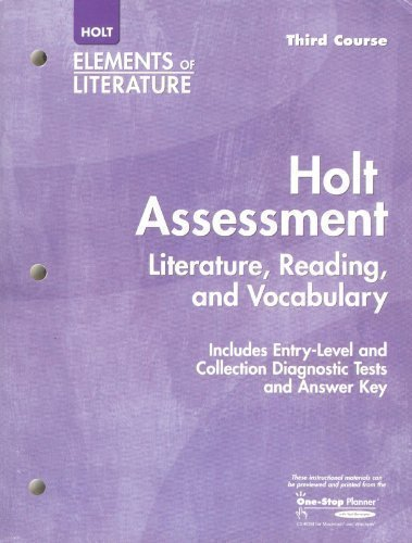 Holt Assessment: Literature, Reading, and Vocabulary, with Answer Key