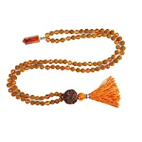 Buddhist Beads Healing Japamala Reiki Carnelian Pendants with Rudraksha 108 Yoga Necklace