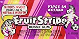 Fruit Stripe Bubble Gum Flavor 12 Packs