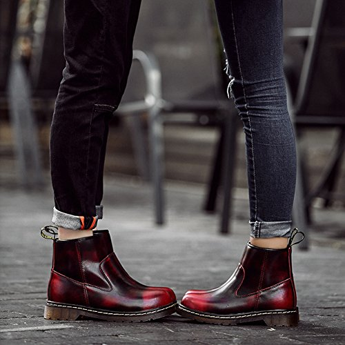 Boots Couple Outdoor New BERTERI Red Winter Women Lovers Ankle Boots Men's Women's Martin Casual qX4E4