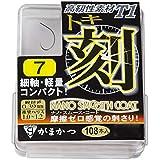 がまかつ(Gamakatsu) シングルフック ザ・ボックス T-1 刻 7号 108本 68245