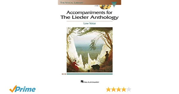 The Lieder Anthology - Accompaniment CDs: The Vocal Library Low