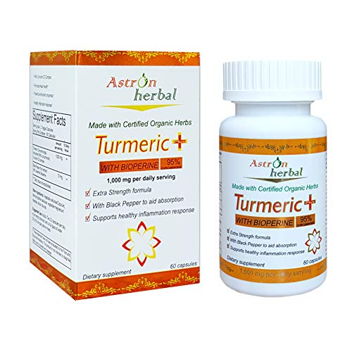 Turmeric Plus 1000mg (95% Curcuminoids)with 10mg Bioperine(Black Pepper)for Better Absorption.Supports healthy Inflammatory response,Antioxidant Supplement.All Natural made with Certified Organic Herb For Sale
